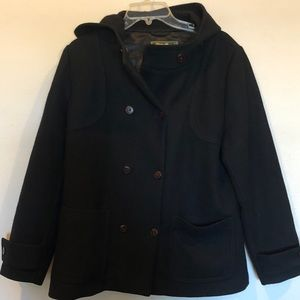 Eddie Bauer double breasted wool pea coat